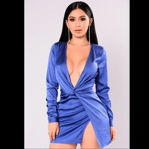 Sugar Free Royal Blue Fashion Nova Dress